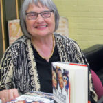 Mary Lou Finley at a book signing
